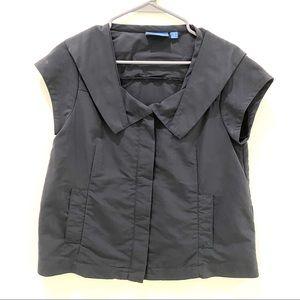 Simply Vera Wang Cap sleeve zippered Gray  top